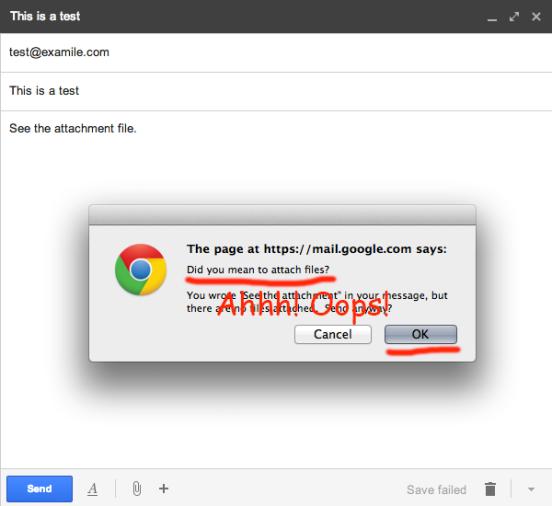 gmail attachment error oops