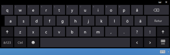 Windows 8.1 touch keyboard