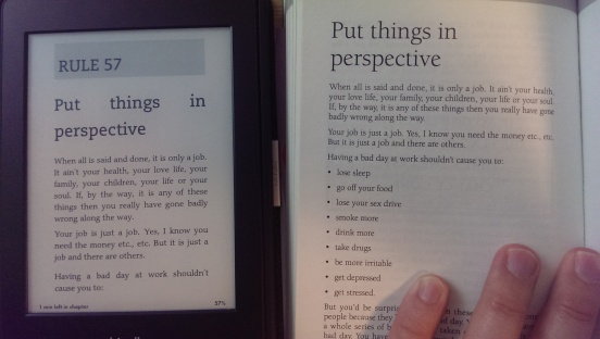 kindle and paper version side by side